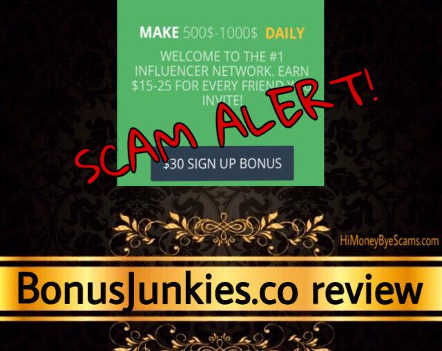 BonusJunkies.co scam review