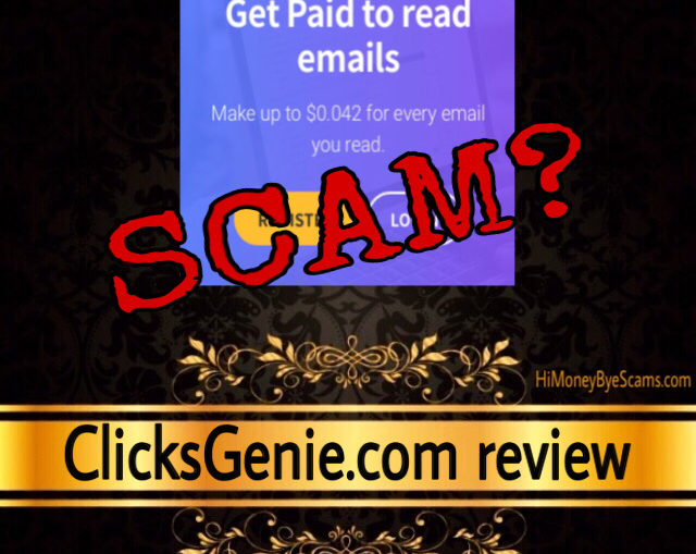 ClicksGenie.com review scam