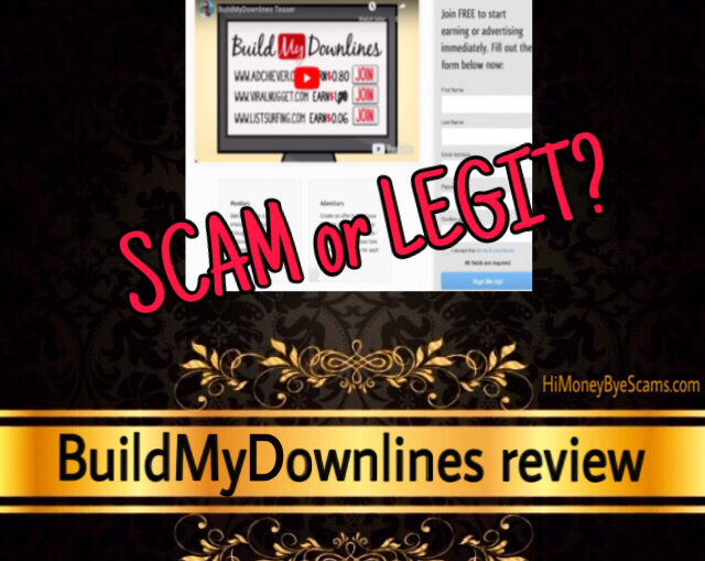 BuildMyDownlines review scam