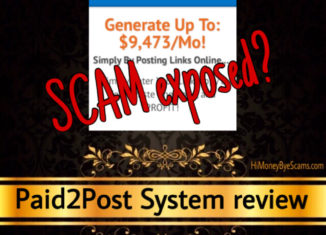 Paid2Post System review scam