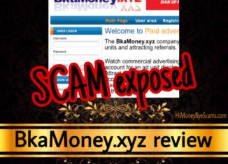 BkaMoney.xyz review scam