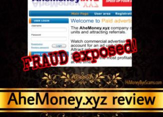 AheMoney.xyz review scam