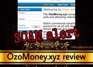 OzoMoney,xyz review scam