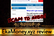 EkaMoney.xyz review scam