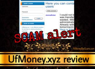 UfMoney.xyz review scam