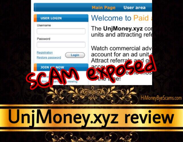 UnjMoney.xyz review scam