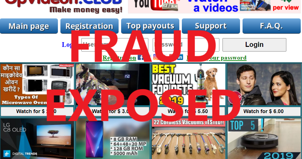 OpVideon.club review scam