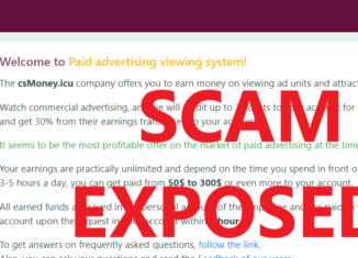CsMoney.icu review scam