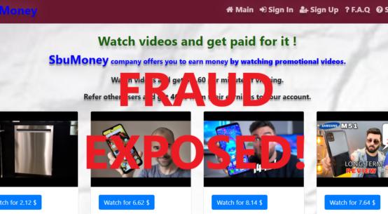 SbuMoney.xyz review scam