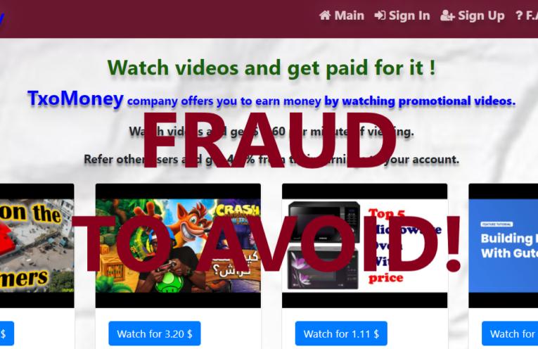 TxoMoney.xyz review scam