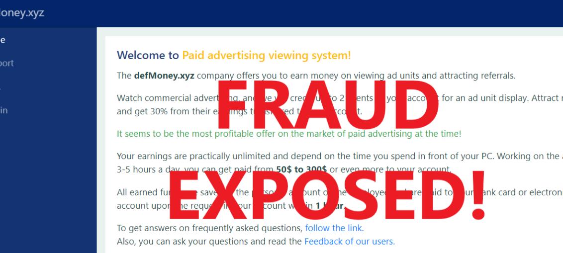 DefMoney.xyz review scam