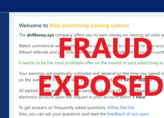 DvMoney.xyz review scam