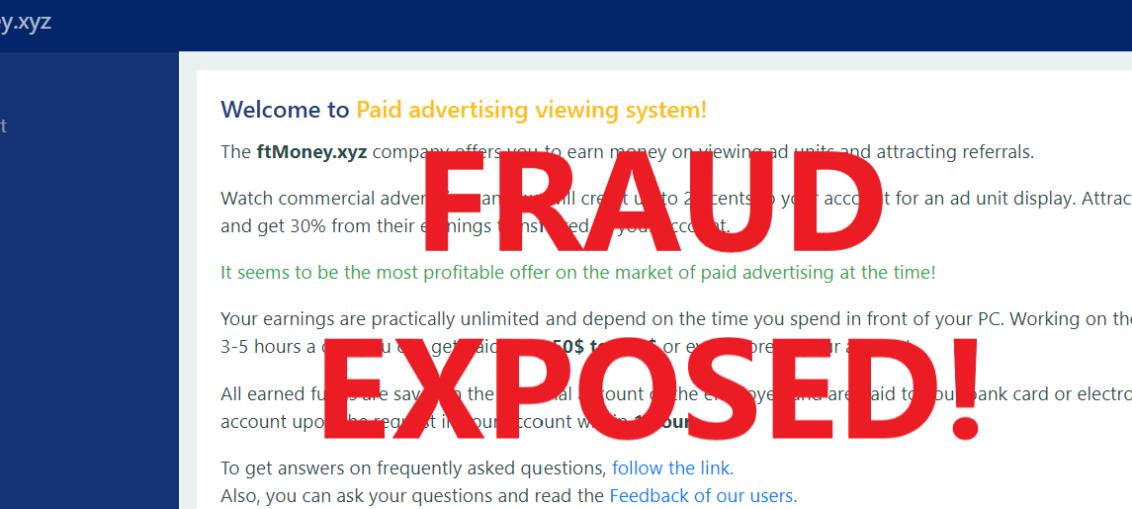 FtMoney.xyz review scam