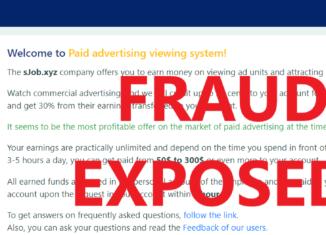 SJob.xyz review scam
