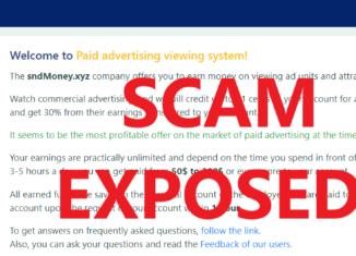 SndMoney.xyz review scam