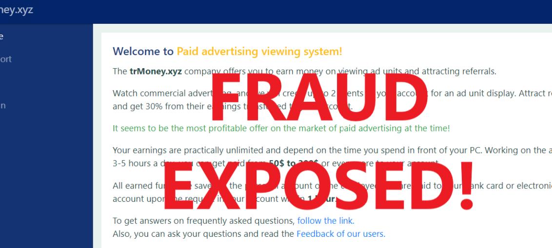 TrMoney.xyz review scam