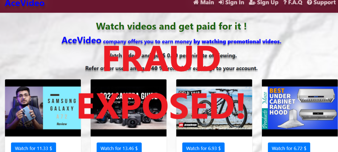 AceVideo.xyz review scam