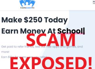 EarnCashTo.com review scam