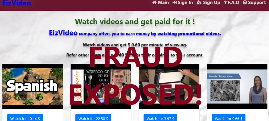EizVideo.xyz review scam