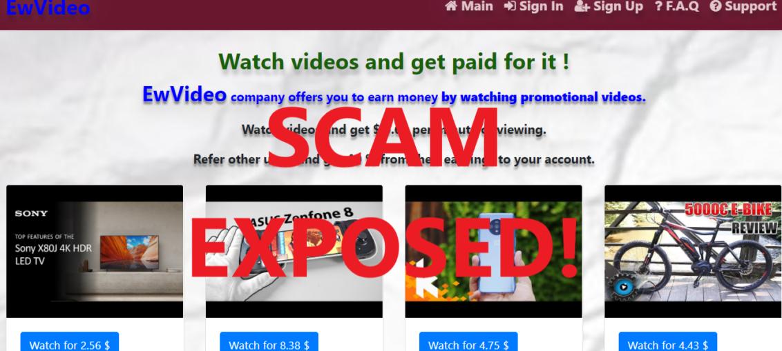 EwVideo.xyz review scam