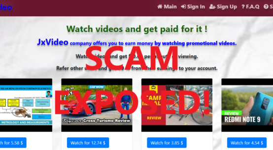 JxVideo.xyz review scam