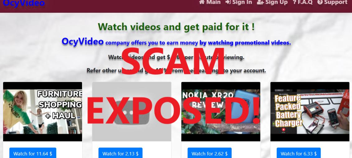 OcyVideo.xyz review scam