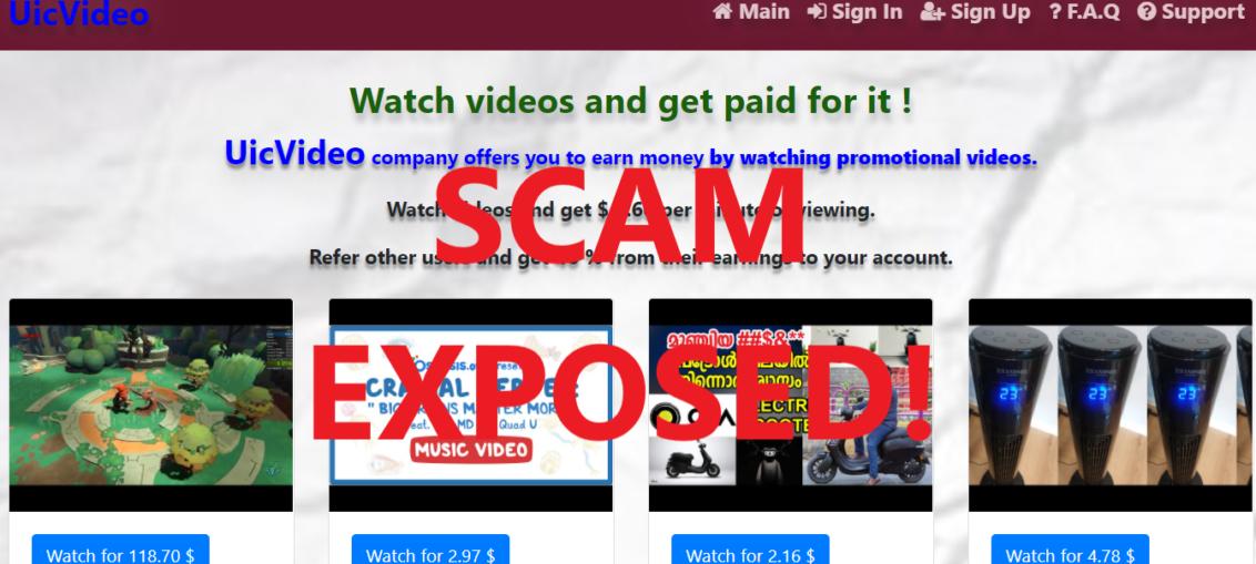 UicVideo.xyz review scam