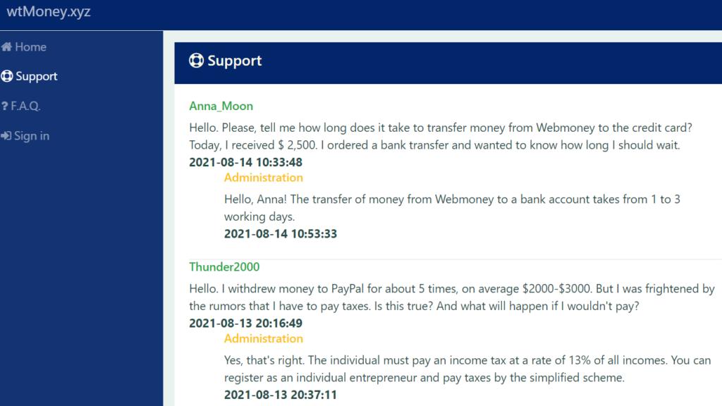 WtMoney.xyz review fake