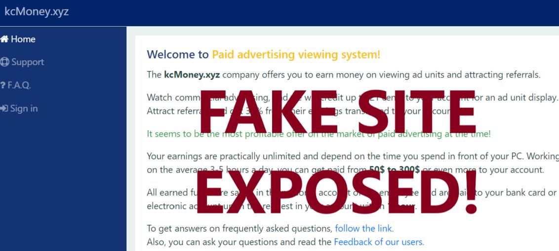 KcMoney.xyz review scam
