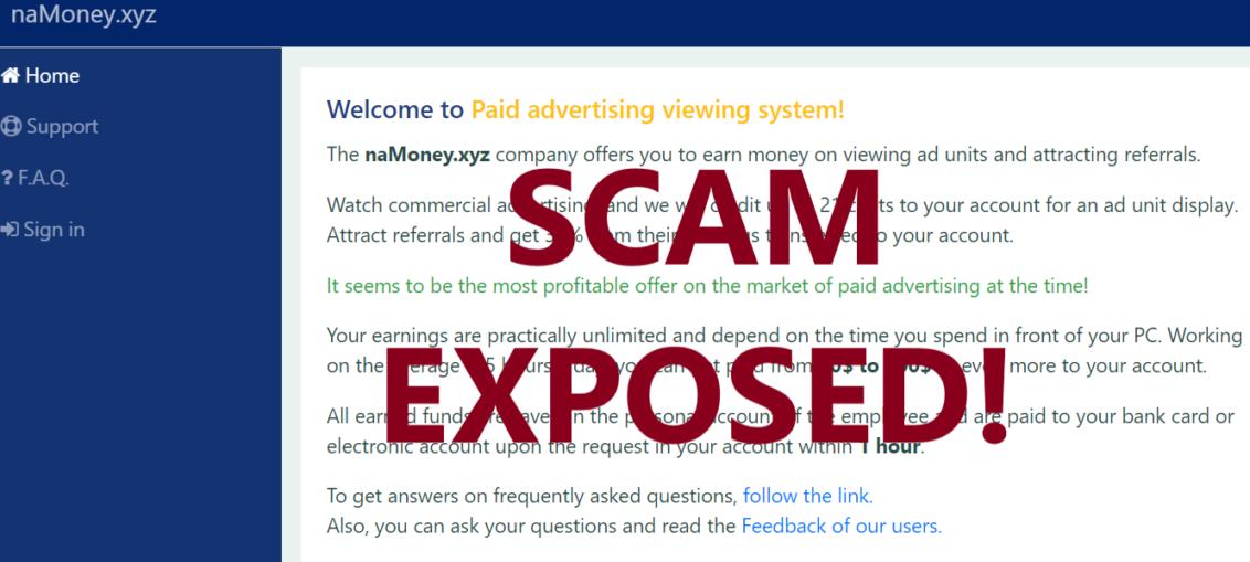 NaMoney.xyz review scam